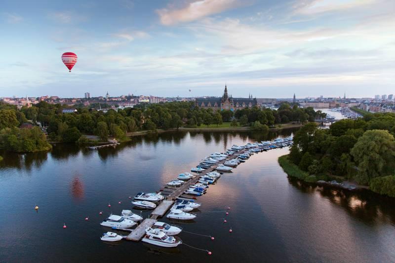Blick auf Insel Djurgården