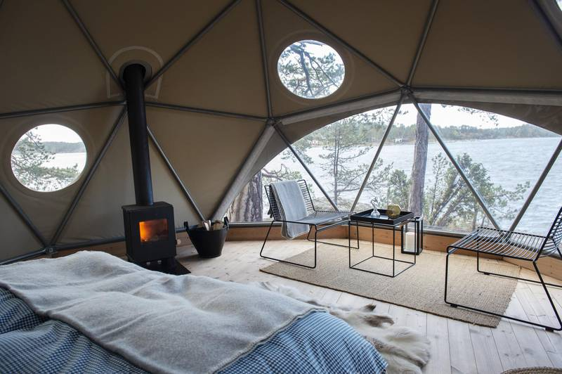 Glamping at Island Lodge, Stockholm
