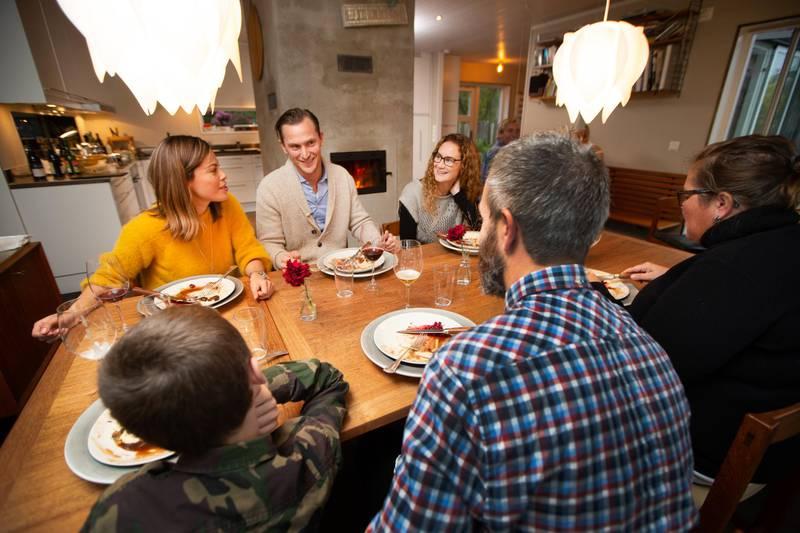 Abendessen bei David at Home in Stockholm