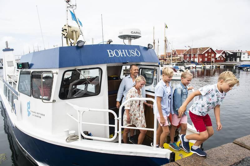 Boat tour in Bohuslän