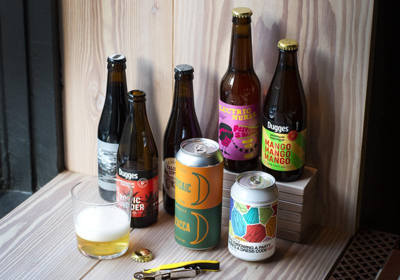 Beer from local breweries in West Sweden