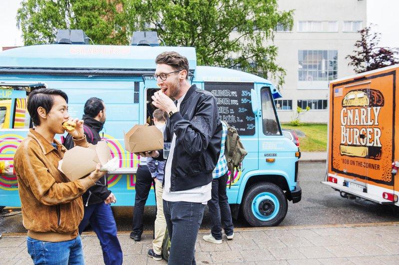 Food trucks à Stockholm