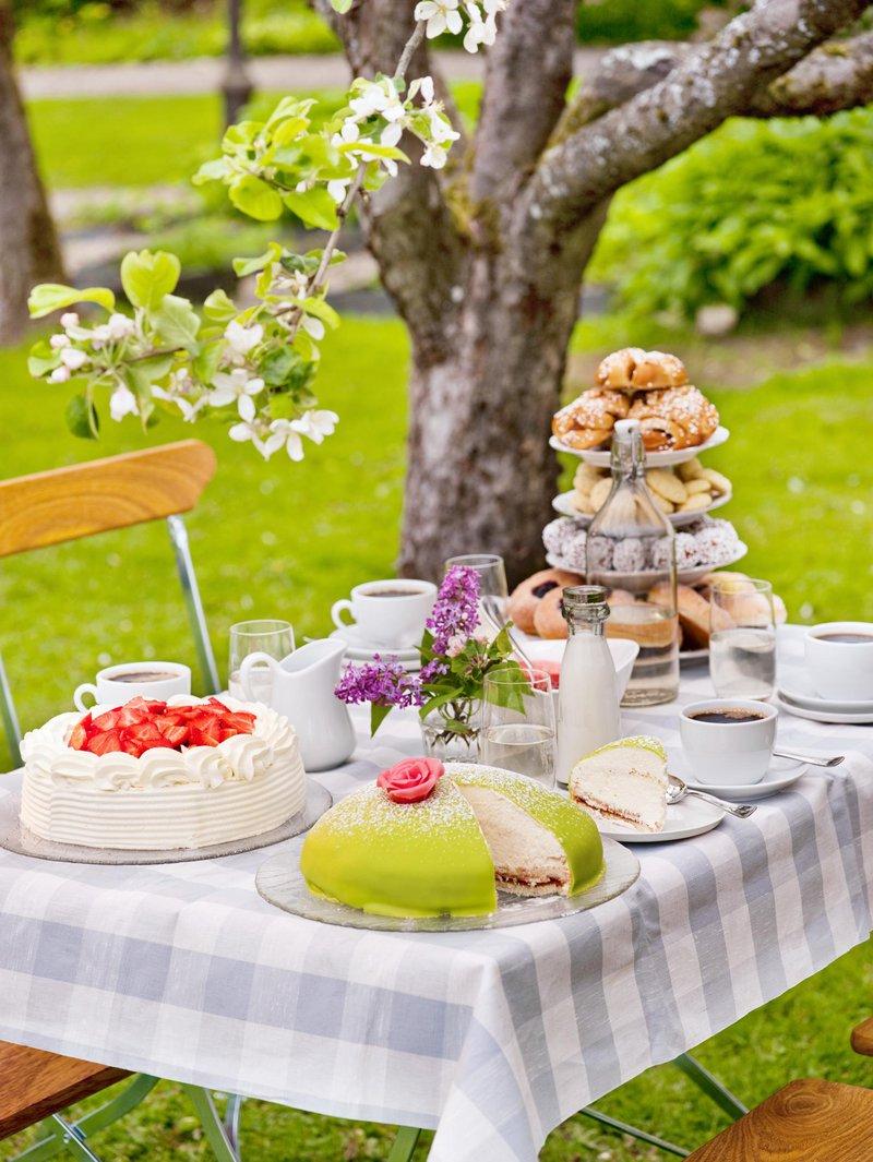 Swedish fika table at Grythyttan Inn