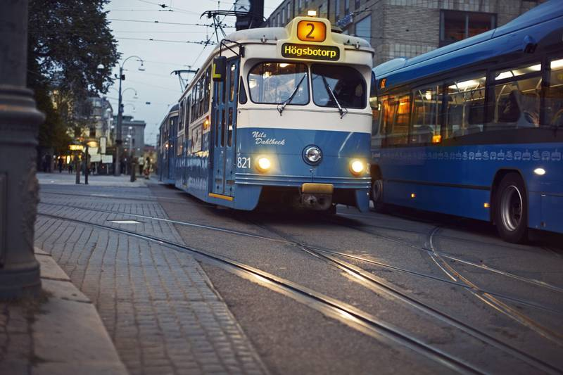 Classic tram in Gothenburg