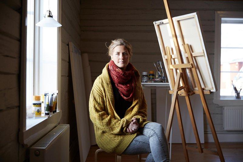 Die in Luleå wohnende Künstlerin Annica Waara
